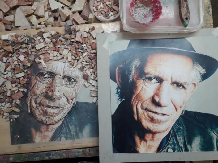 Mozaïek portret Keith Richards