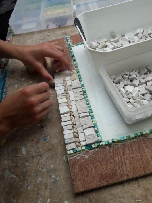 Workshop mozaïekspiegel