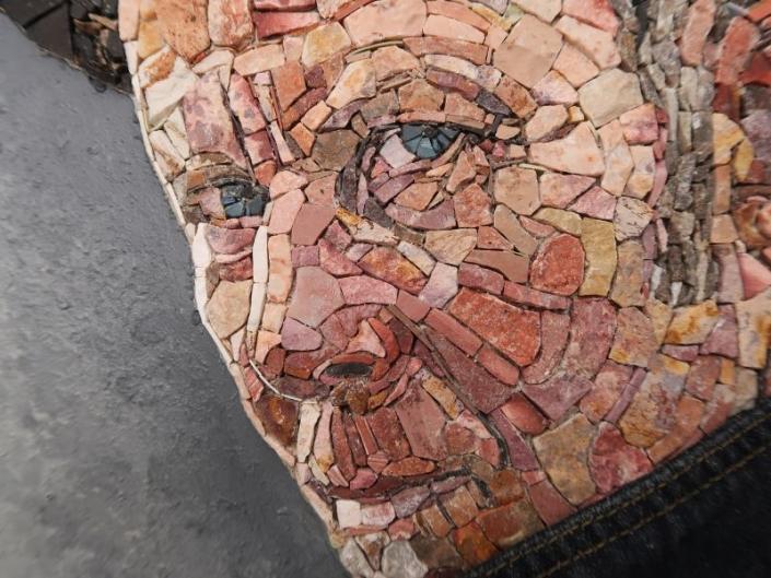 Mozaïek portret Tom Waits