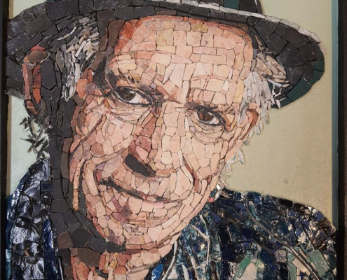 Mozaïek portret Keith Richards