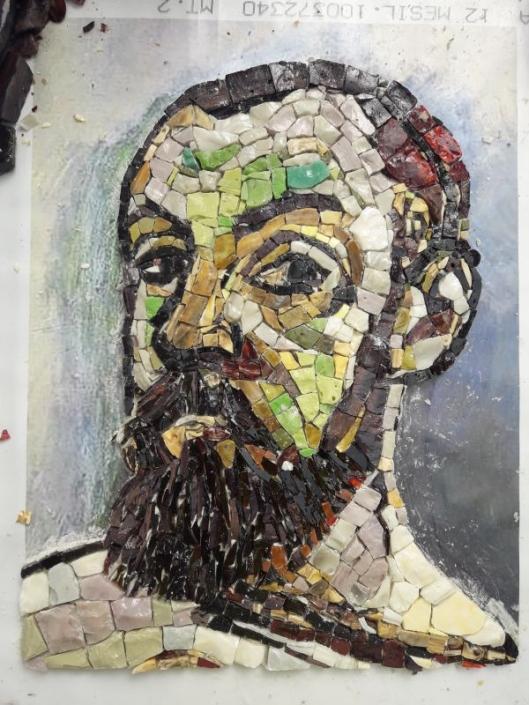 Portret in mozaïek